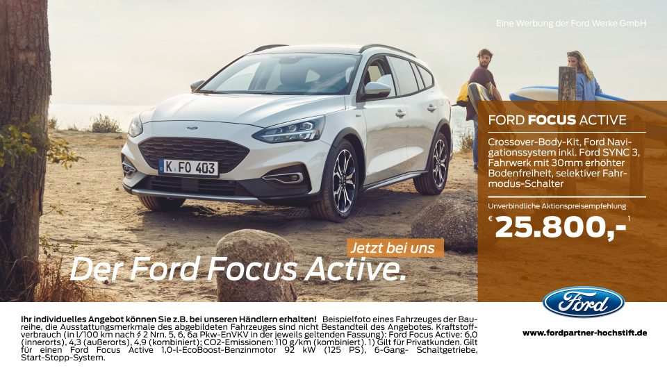 Ford-Partner Hochstift – Der Ford Focus Active